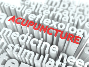 Acupuncture. The Wordcloud Medical Concept.