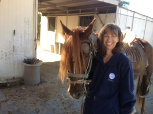 Gail and horse
