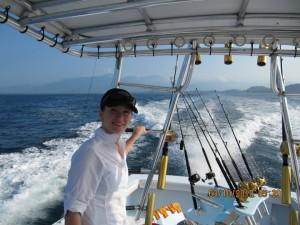 Jennifer on boat