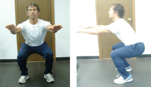 Figure 6. Squat in frontal and side view
