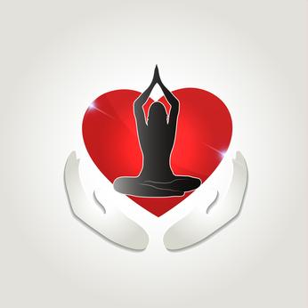 Healthy human health care symbol