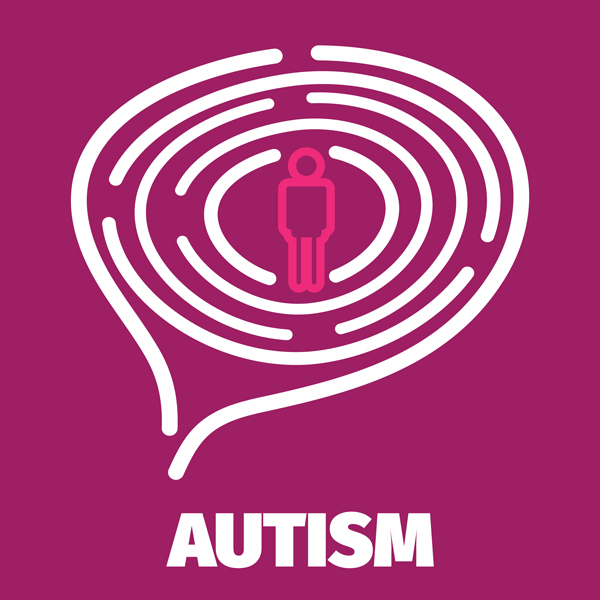 Vector Brain maze symbolizes autism, psychology, psychiatry
