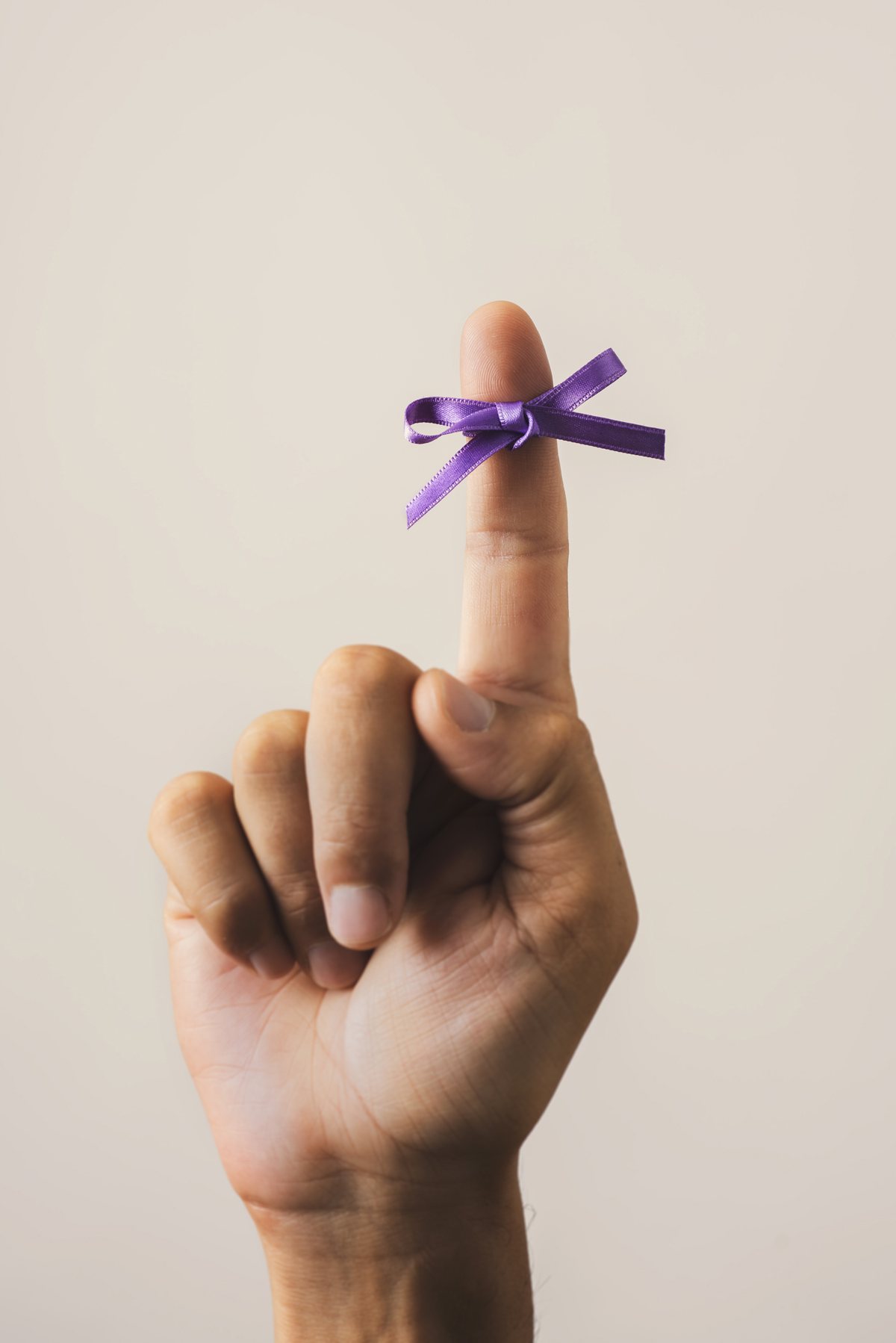 purple ribbon for the world alzheimers day