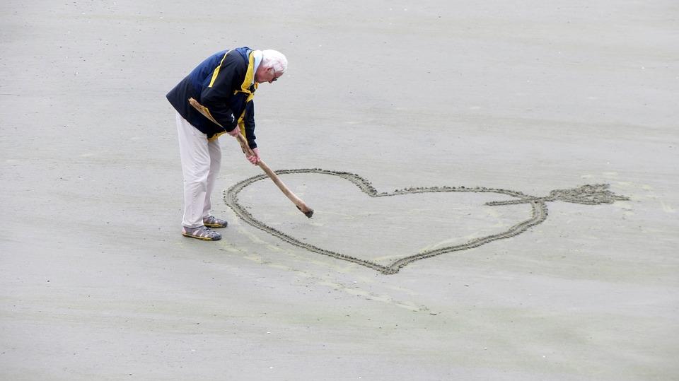 Senior Man beach