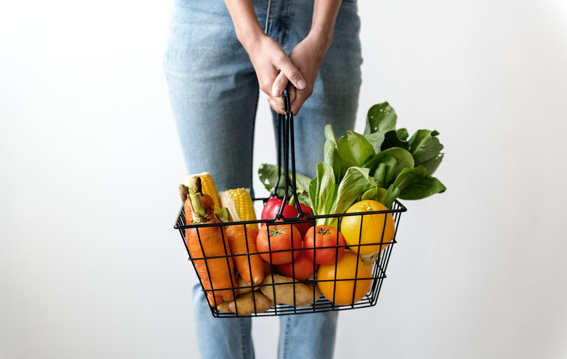 healthy food basket