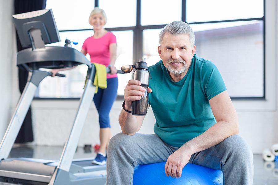 seniors at gym