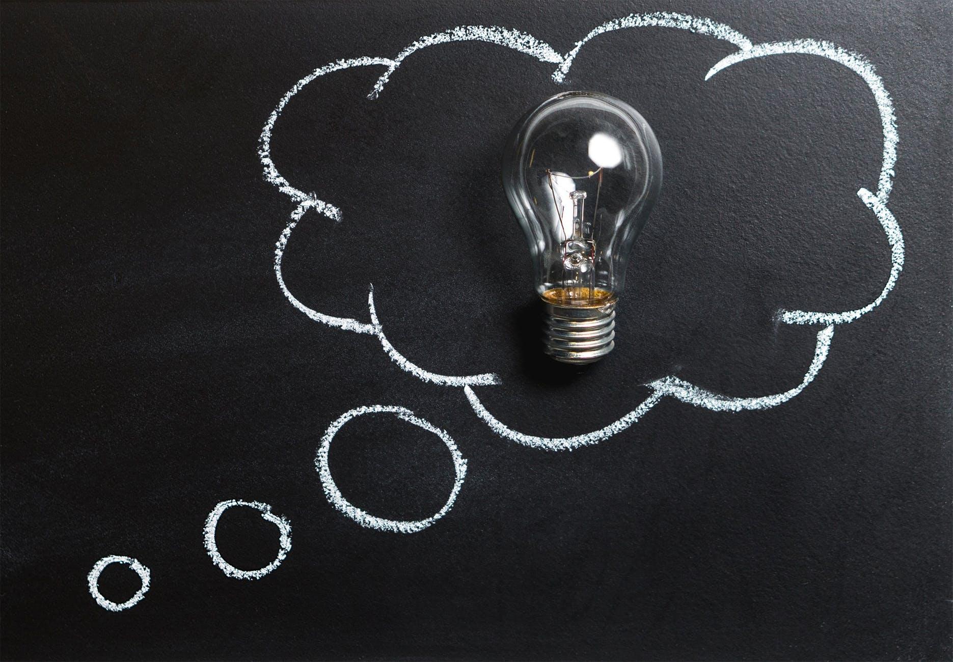 lightbulb thought