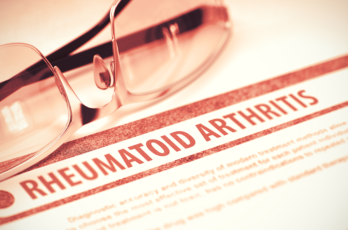 Rheumatoid Arthritis. Medicine. 3D Illustration.