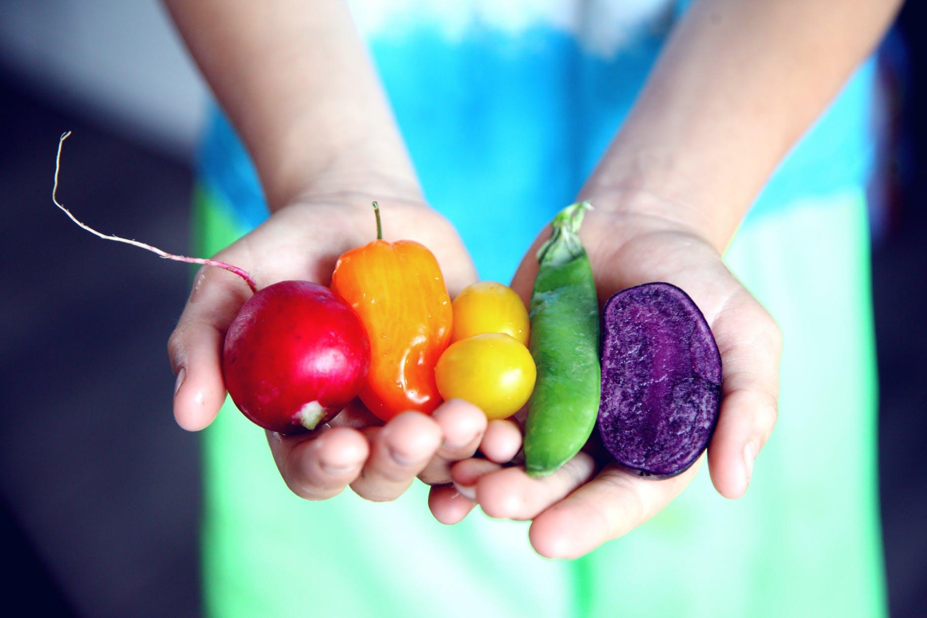 veg in hand