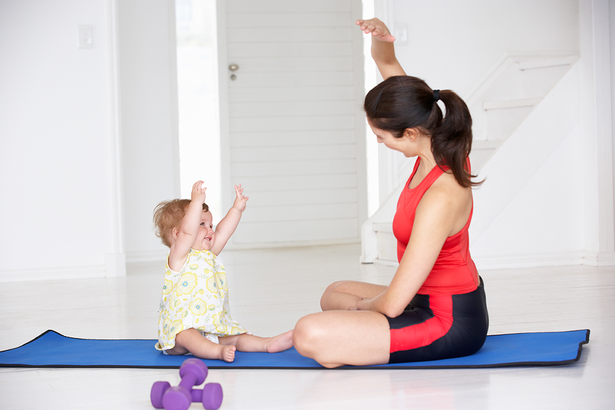 woman-and-baby-exercise-fitness